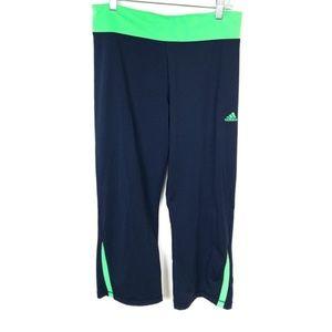 Adidas Blue Green Cropped Capri Athletic Pants M